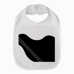 White and black abstraction Bib