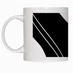 White and black abstraction White Mugs