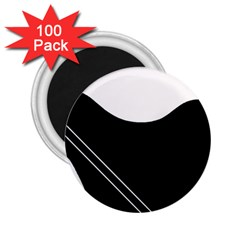 White and black abstraction 2.25  Magnets (100 pack)