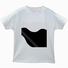 White and black abstraction Kids White T-Shirts