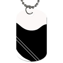 White and black abstraction Dog Tag (One Side)