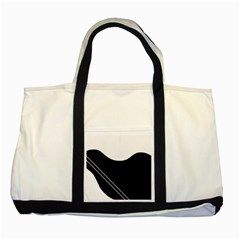 White and black abstraction Two Tone Tote Bag