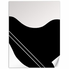 White and black abstraction Canvas 18  x 24