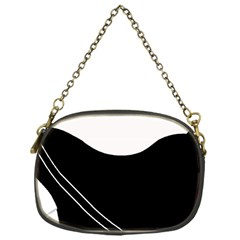White and black abstraction Chain Purses (One Side)