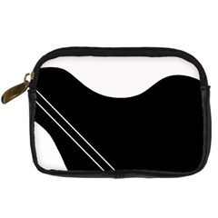 White and black abstraction Digital Camera Cases
