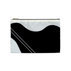 White and black abstraction Cosmetic Bag (Medium)