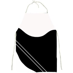 White and black abstraction Full Print Aprons
