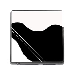 White and black abstraction Memory Card Reader (Square)