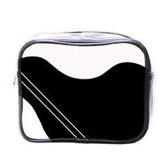White and black abstraction Mini Toiletries Bags