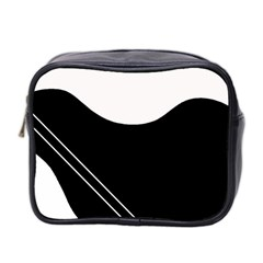 White and black abstraction Mini Toiletries Bag 2-Side