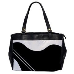 White and black abstraction Office Handbags