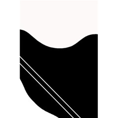 White and black abstraction 5.5  x 8.5  Notebooks