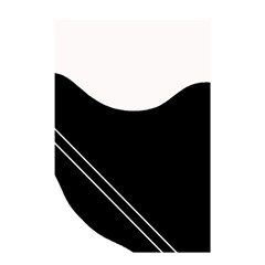 White and black abstraction Shower Curtain 48  x 72  (Small)