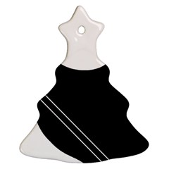 White and black abstraction Christmas Tree Ornament (2 Sides)