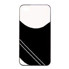 White and black abstraction Apple iPhone 4/4s Seamless Case (Black)