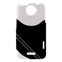 White and black abstraction HTC One X Hardshell Case