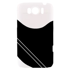 White and black abstraction HTC Sensation XL Hardshell Case