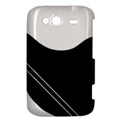 White and black abstraction HTC Wildfire S A510e Hardshell Case