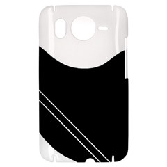 White and black abstraction HTC Desire HD Hardshell Case