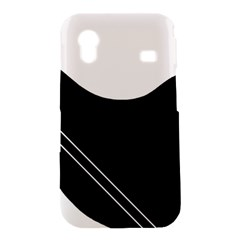 White and black abstraction Samsung Galaxy Ace S5830 Hardshell Case