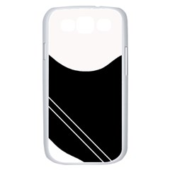 White and black abstraction Samsung Galaxy S III Case (White)