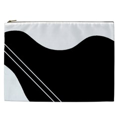 White and black abstraction Cosmetic Bag (XXL)