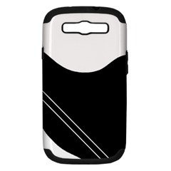 White and black abstraction Samsung Galaxy S III Hardshell Case (PC+Silicone)