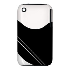 White and black abstraction Apple iPhone 3G/3GS Hardshell Case (PC+Silicone)