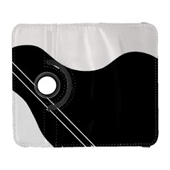 White and black abstraction Samsung Galaxy S  III Flip 360 Case