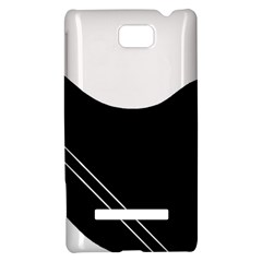 White and black abstraction HTC 8S Hardshell Case