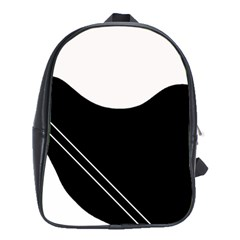 White and black abstraction School Bags (XL)