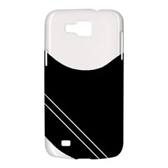 White and black abstraction Samsung Galaxy Premier I9260 Hardshell Case