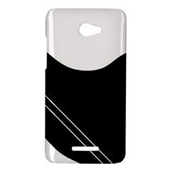 White and black abstraction HTC Butterfly X920E Hardshell Case