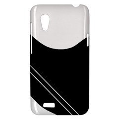 White and black abstraction HTC Desire VT (T328T) Hardshell Case