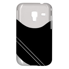 White and black abstraction Samsung Galaxy Ace Plus S7500 Hardshell Case