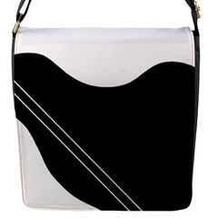 White and black abstraction Flap Messenger Bag (S)