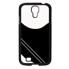 White and black abstraction Samsung Galaxy S4 I9500/ I9505 Case (Black)