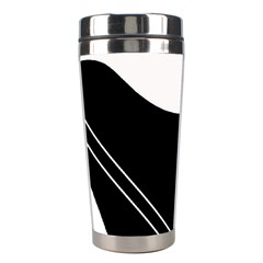 White and black abstraction Stainless Steel Travel Tumblers