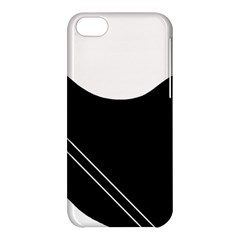 White and black abstraction Apple iPhone 5C Hardshell Case