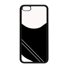 White and black abstraction Apple iPhone 5C Seamless Case (Black)