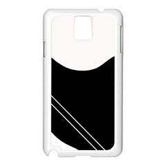 White and black abstraction Samsung Galaxy Note 3 N9005 Case (White)