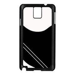 White and black abstraction Samsung Galaxy Note 3 N9005 Case (Black)