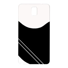 White and black abstraction Samsung Galaxy Note 3 N9005 Hardshell Back Case