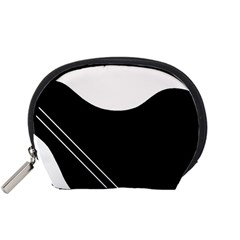 White and black abstraction Accessory Pouches (Small)