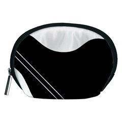White and black abstraction Accessory Pouches (Medium)