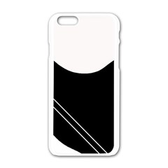 White and black abstraction Apple iPhone 6/6S White Enamel Case