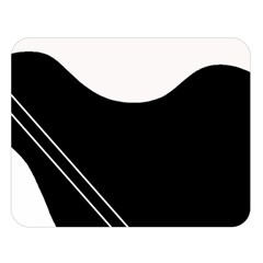 White and black abstraction Double Sided Flano Blanket (Large)