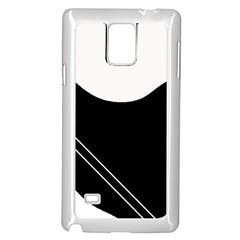 White and black abstraction Samsung Galaxy Note 4 Case (White)