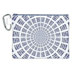 Illustration Binary Null One Figure Abstract Canvas Cosmetic Bag (XXL)