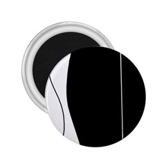 White and black 2 2.25  Magnets